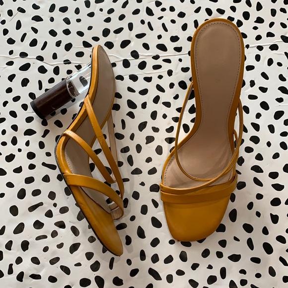 Zara Yellow Mule Sandals